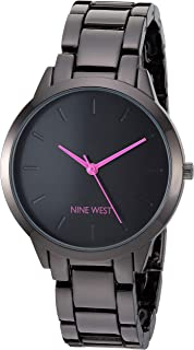 Nine West Women's Gunmetal Bracelet Watch