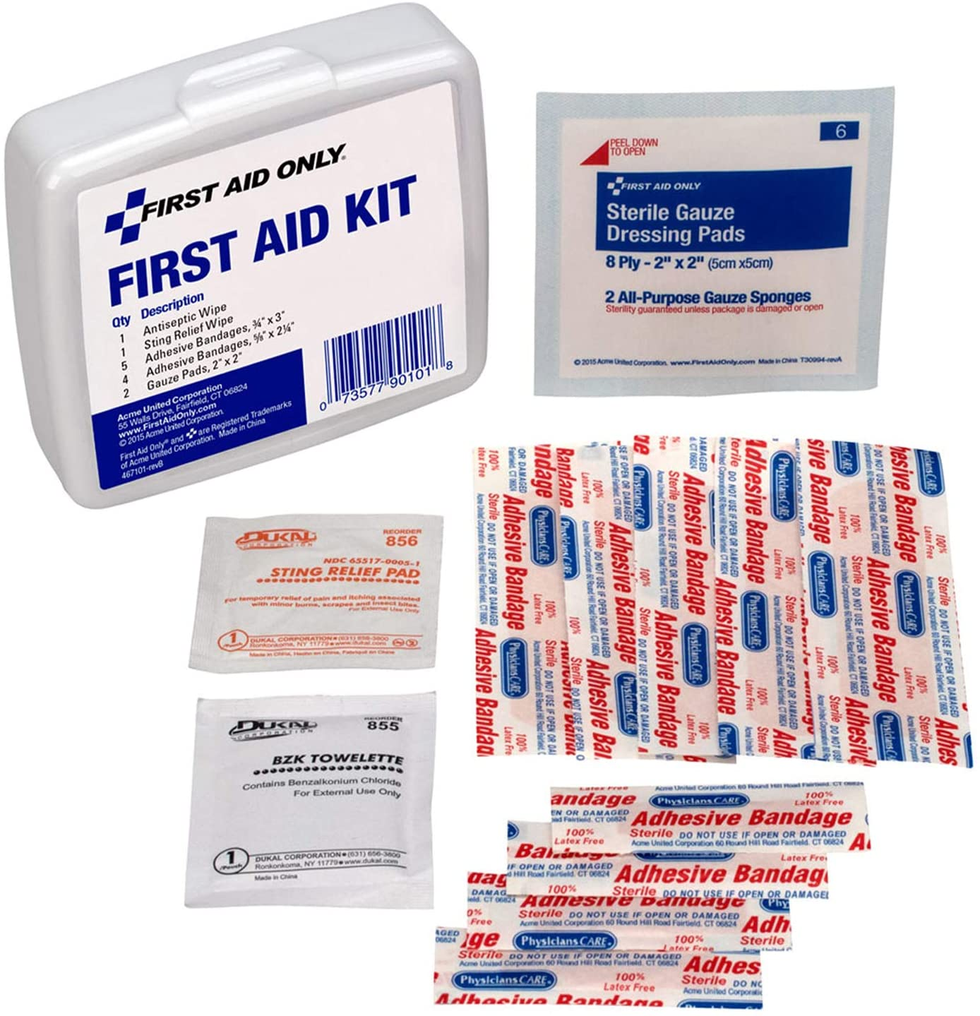 First Aid Only PhysiciansCare by High quality On White Go Brand Cheap Sale Venue 13 The Kit Piece