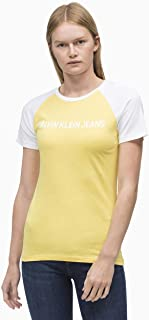 Calvin Klein Jeans Women's Institutional Raglan Slim Fit T-Shirt