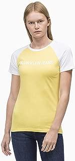 Calvin Klein Jeans Women's Institutional Raglan Slim Fit T-Shirt