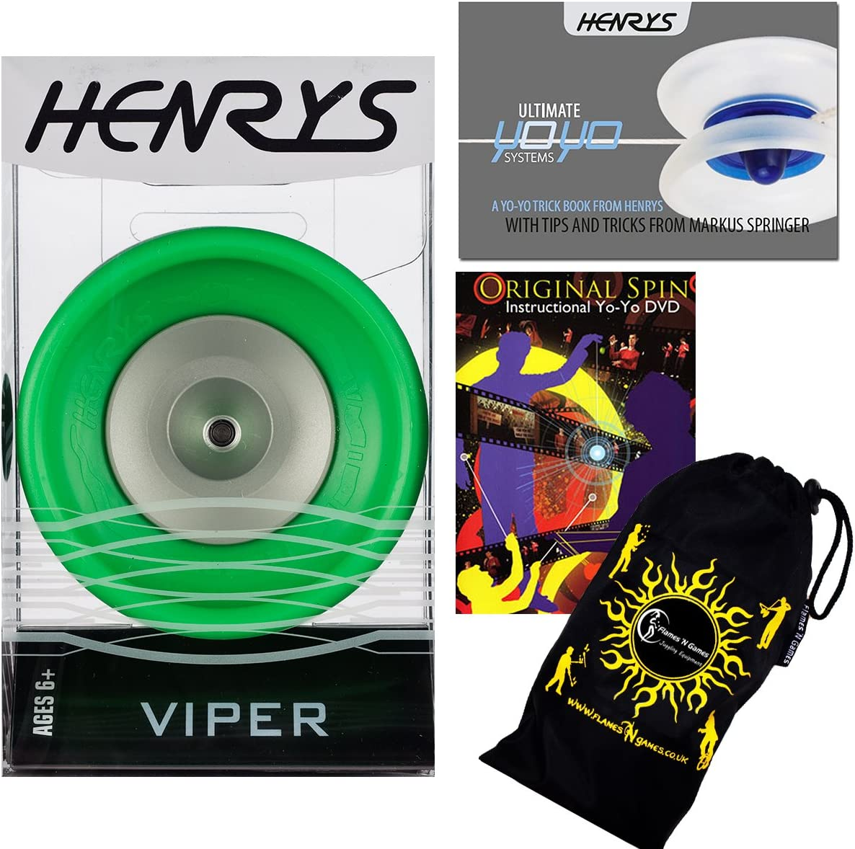 Henrys VIPER YoYo Green Ball Professional New Orleans Mall +Instru free shipping Bearing
