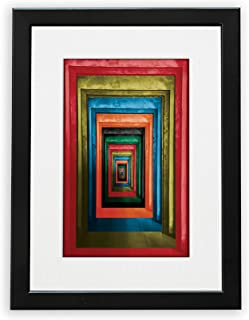 NUSNOS Wall Art | DOORS | Original Photography Color Abstract Wall Art Printed on HQ Paper with Black Wooden Frame & Plexi...