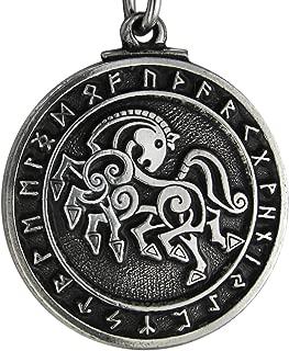 ピューターNorse God Odin Sleipnir Horseペンダント
