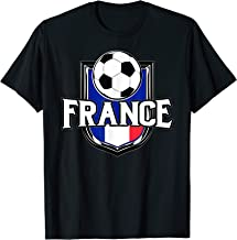 France Soccer Ball T-Shirt | French Flag Football Tee