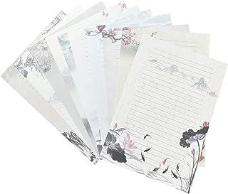 50 ورقة قرطاسية عتيقة، مجموعة أوراق حروف كتابة، مقاس A4، نمط مختلف