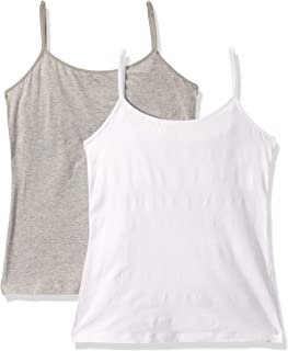 Ellen Tracy Women's 2 Pack Cotton Shelf Bra Camisole