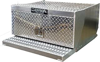 Diamond Plate Aluminum 31 Inch Tool Box Step for Peterbilt 389, 378, 379