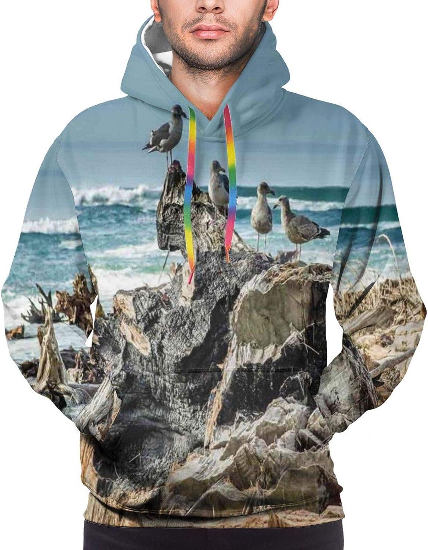Men's Hoodies Sweatshirts,A Pattern with Clock Faces On It Vintage Illustration Decorative Design