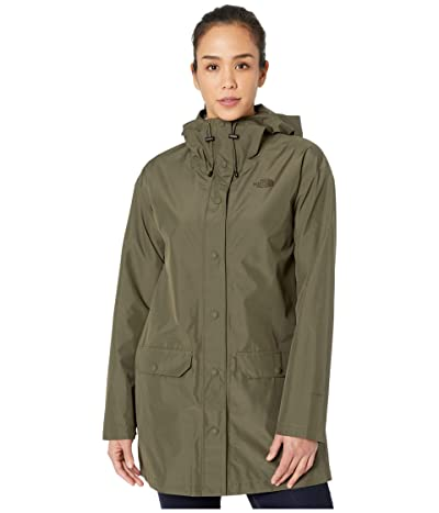 The North Face Woodmont Rain Jacket (New Taupe Green) Women