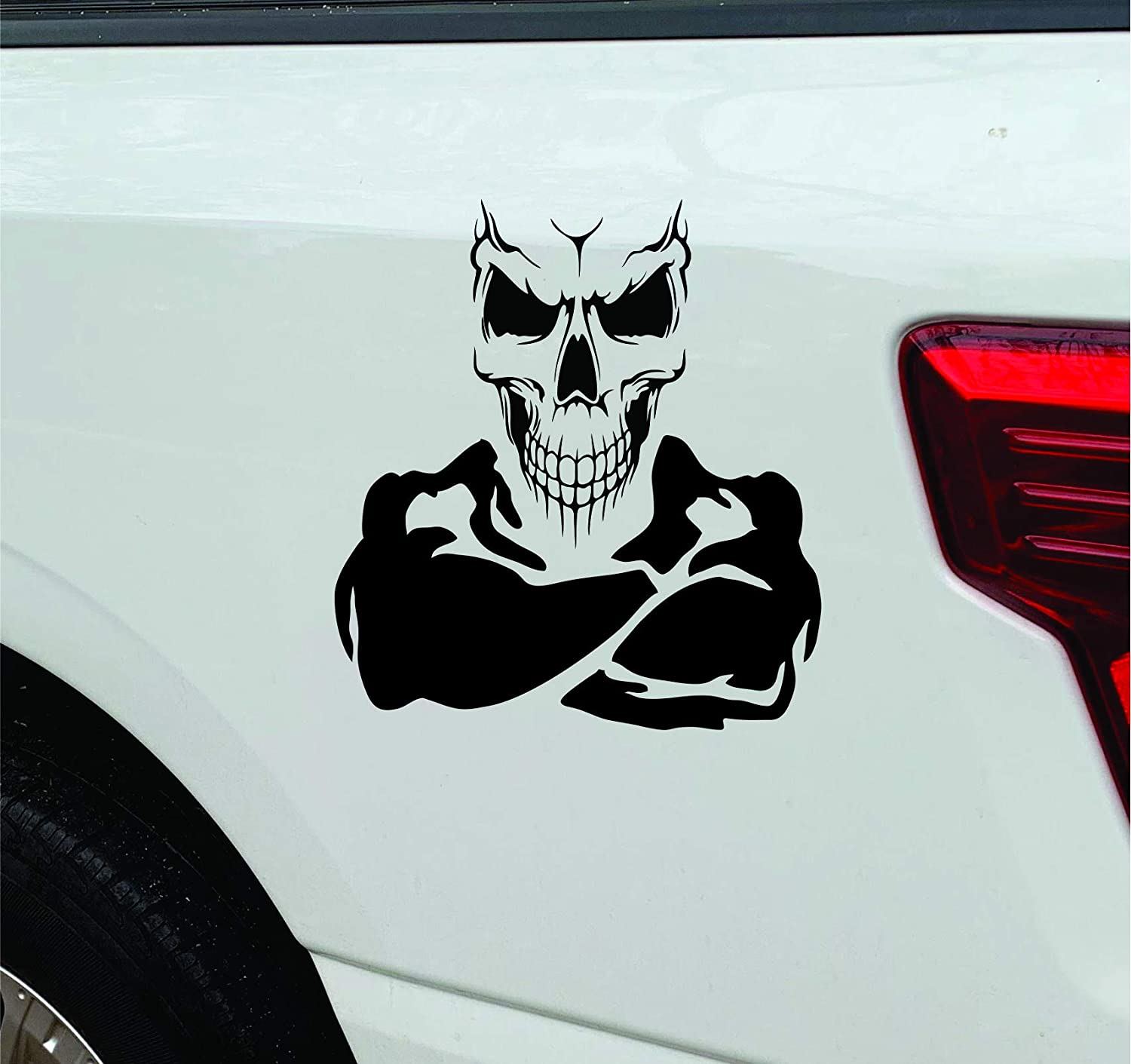 Skull With Crossed Popular popular Arms Truck Decal Car 2021new shipping free shipping of Set Sticker 2