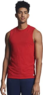 Russell Athletic Men`s Cotton Performance Sleeveless Muscle T-shirt