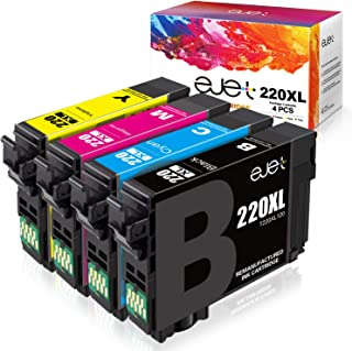 ejet Remanufactured Ink Cartridge Replacement for Epson 220XL 220 XL T220XL to use with Workforce WF-2750 WF-2630 WF-2650 ...