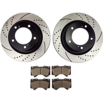 2010 2011 2012 for Toyota Tundra Disc Brake Rotors and Ceramic Pads Front