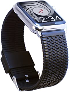 Carterjett Compatible with Apple Watch Band 42mm/44mm 38mm/40mm Sport Tire Tread Rubber iWatch Band Replacement Strap, Mul...