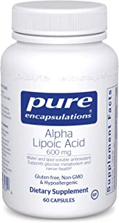 Pure Encapsulations Alpha Lipoic Acid 600 mg | ALA Supplement for Liver Support, Antioxidants, Nerve and Cardiovascular He...