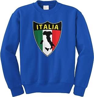 Cybertela Italian Italy Italia Shield Flag Crewneck Sweatshirt
