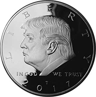 GOPBOX Donald Trump Silver Coin 2017, Silver Plated Collectable Coin, 45th President, Certificate of Authenticity Official