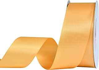 YAMA Double Face Satin Ribbon - 1 1/2 Inch 25 Yards for Gift Wrapping Ribbons Roll, Gold