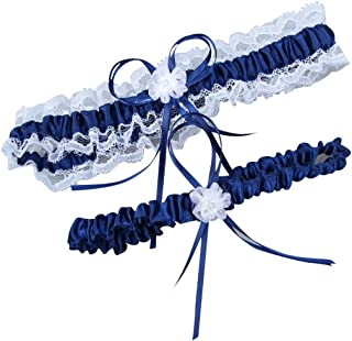 Women's White Lace Wedding Garters 2-Piece Set Bridal Garter Prom Gift