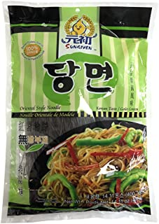SUNGIVEN Sweet Potato Glass Noodles, Korean Vermicelli Pasta, Fat-free and Gluten-free, 100% Sweet Potato Starch, No Additive, No Alum inside , 14.11 Ounce