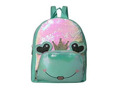OMG! Accessories Frog Queen Sequins Mini Backpack (Green) Backpack Bags