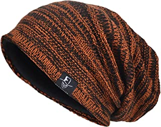 VECRY Mens Slouchy Beanie Layered Skull Winter Hat