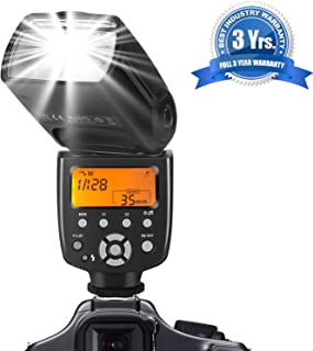 Camera Flash for Canon Nikon Panasonic Olympus Pentax and Other DSLR Cameras,Digital Cameras with Standard Hot Shoe