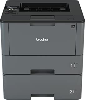 Brother Monochrome Laser Printer, HL-L5200DWT, Duplex Printing, Wireless Networking, Dual Paper Trays, Mobile Printing, Am...