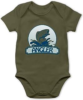 Shirtracer Sport Baby - Angler Button - Baby Body Kurzarm für Jungen und Mädchen