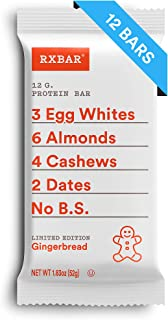 RXBAR, Gingerbread, Protein Bar, 1.83 Ounce (Pack of 12) Breakfast Bar, High Protein Snack