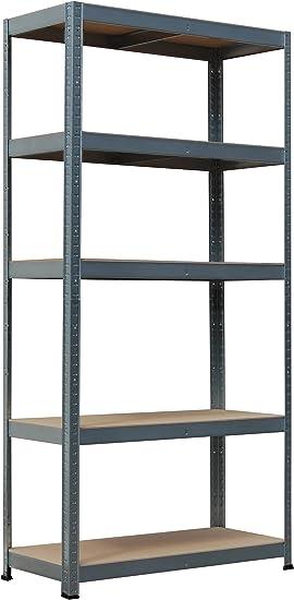 Metalkas R265 - Estantería (5 x 265 kg, Metal galvanizado, 265 kg)