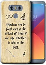 Phone Case for LG G6/H870/LS993/VS998 School of Magic Film Quotes Happiness/Darkest Times Design Transparent Clear Ultra Soft Flexi Silicone Gel/TPU Bumper Cover