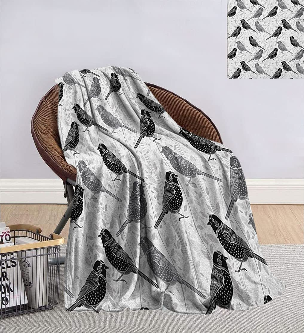 Birds Outlet SALE Blanket for Adults and Flower Buds Leaves Children Al sold out. Floral