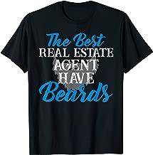 Funny Real Estate Agent Beard Realtor Men Husband T-Shirt