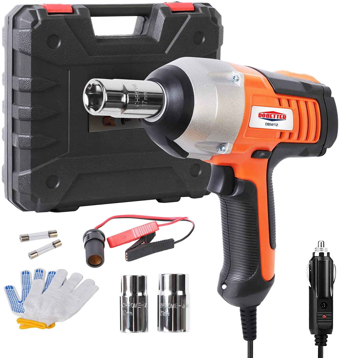Dobetter-DBIW12 Corded Electric Car Impact Wrench, 12V