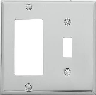 Baldwin Estate 4743.260.CD Square Beveled Edge GFCI Single Toggle Combo Wall Plate in Polished Chrome, 4.5