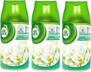 Air Wick Desodorisant Maison Recharge Diffuseur Freshmatic Max Jasmin et Fleurs Blanches Délicates 250 ml - Lot de 3