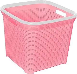 El Helal & Star Ratan Laundry Basket - Rose and White