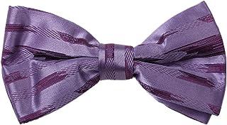 Dan Smith Mens Fashion Series World Stripes Microfiber Pre-tied Bow Tie With Box