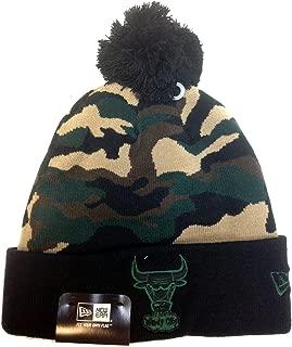 New Era NBA Chicago Bulls Black Woodcamo ONE Size Beanie