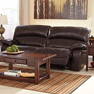 Signature Design by Ashley Damacio Dark Brown 2-seat Reclining Sofa
