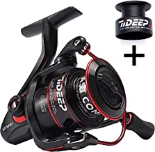 LONPAR Spinning Fishing Reel 7+1/8+1/9+1BB Lightweight Powerful Drag Two Spools Included Selectable Anti-Reverse Right/Left Handle Fishing Reel for Saltwater or Freshwater