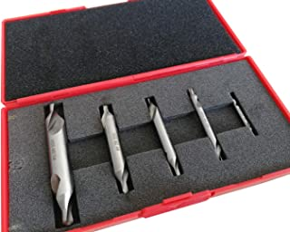 5PC M2HSS Combined Center Drills Countersinks 60 Degree Angle Bit Set