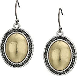 Pave Gem Drop Earrings