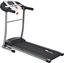 Powermax Fitness TDM-98 1.75 HP/3.5 HP Peak Motorized Treadmill with 5.5 inch LED Display and Cast Steel Resistance Shock Absorption System - Black