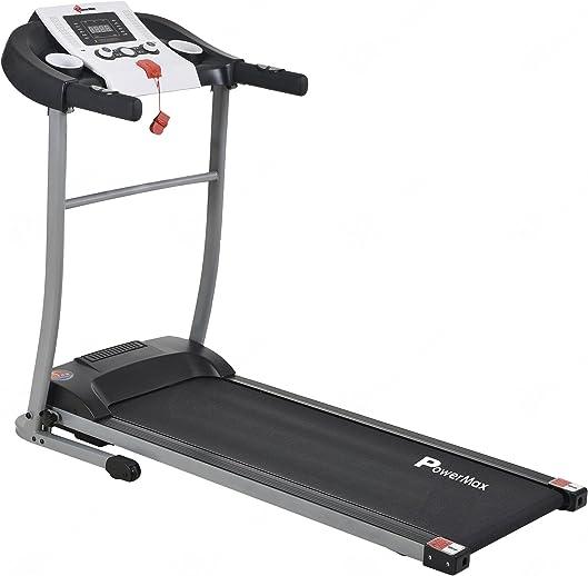 PowerMax Fitness TDM-9x Series - Light, Foldable, Electric Treadmill【LCD Display | BMI 】Running Machine for Max Pro-Workout by Walk, Run & Jog at Home