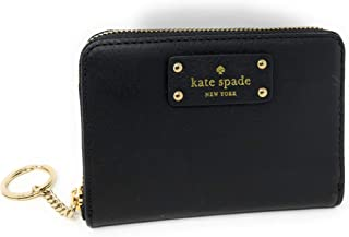 Kate Spade Grove Street Dani Leather Zip Around Wallet Key Chain Ring Black