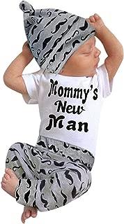 3Pcs Baby Boy Clothes Mommy's New Man Print Bodysuit...