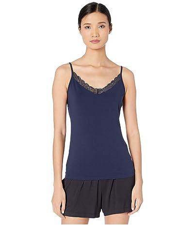 Hanro Cotton Lace Camisole (Deep Navy) Women