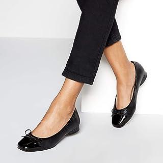 39ebd103c34c Good for the Sole Womens Black 'Gliterrati' Wide Fit Ballet Pumps
